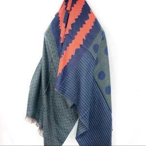 NEW-Reversible Cashmere WoolBlend Shawl/Scarf/Wrap